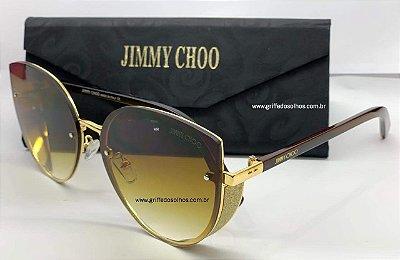 ÓCULOS DE SOL JIMMY CHOO MARROM GABBY/F/S 2M2FQ - BRILHO