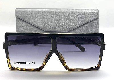 Óculos de Sol Retro - Yves  Saint Laurent SL 183 BETTY S Vintage/ Grande  Leopardo
