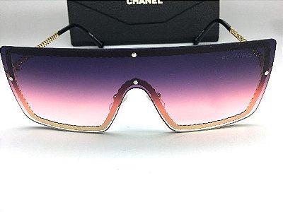 Oculos Quadrado Chanel - Armação Corrente Dourada