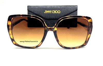 Jimmy Choo Quadrado - Oculos de Sol Feminino Armação Tartaruga