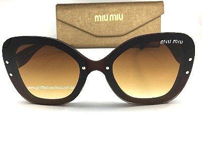 Óculos de Sol Miu Miu  Borboleta -  Marrom