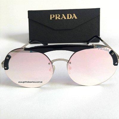 Óculos Prada PR Redondo 52US SZ - Lente Rosa Espelhado
