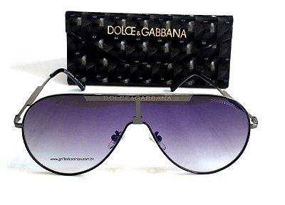 Óculos de Sol Dolce & Gabbana Aviador / Lente Degrade Azul  Espelhado