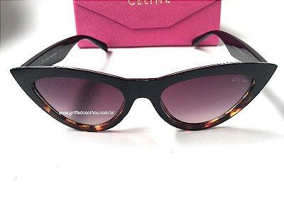Cat Eye Céline Paris - Óculos de Sol Gatinho/ Mesclado