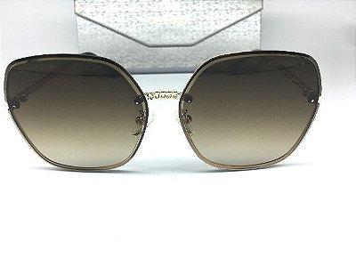 Óculos Chanel Armação  de Corrente Dourada