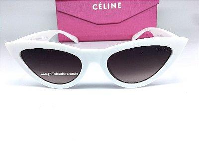 Cat Eye Céline Paris - Óculos de Sol Gatinho Branco