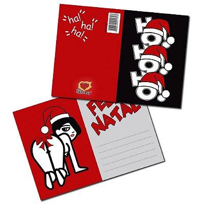 Cartão feliz natal 05 unidades sexy fantasy