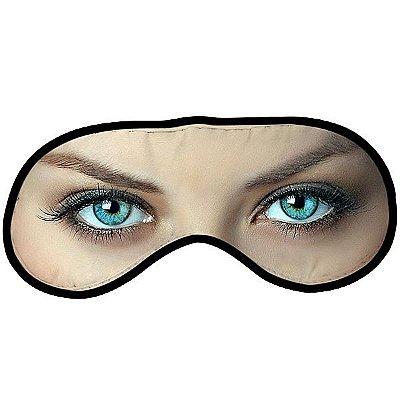 Máscara para dormir divertida - olho azul mulher
