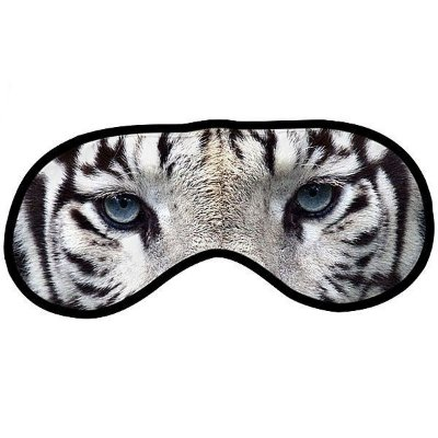 Máscara para dormir divertida - tigre branco