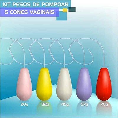 PESO DE POMPOAR SEXY TOOL KIT C/ 5 PESOS CORES VARIADAS