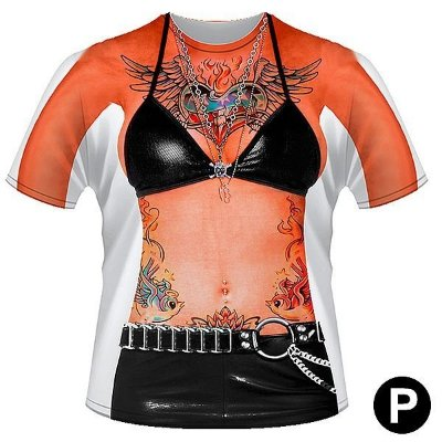 Camiseta criativa mulher tatuada