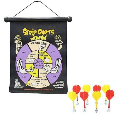 Jogo de striptease com dardos magnéticos
