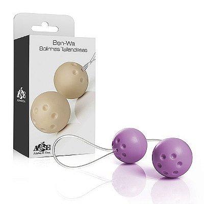 Ben-wa - Conjunto 2 bolas pompoar - Lilás