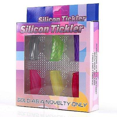 Caixa com 6 anéis tube para pênis, dedos ou vibrador