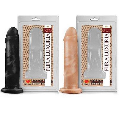 prótese maciça 16,5 x 4,1cm sexy fantasy