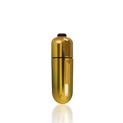 CAPSULA VIBRATORIA POWER BULLET (5162)[BATERIA LR44] DOURADO