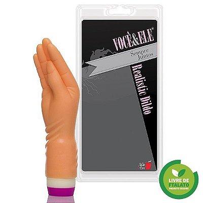Hand Finger pequeno com vibrador 21x5 cm na cor pele