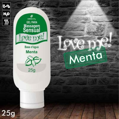 LUBRIFICANTE NATUBELLY LOVE ME 25G MENTA