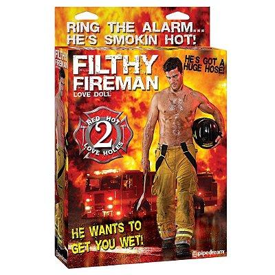 Boneco Inflável Filthy Fireman Love Doll