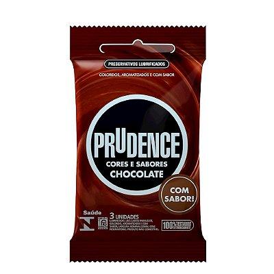PRESERVATIVO CHOCOLATE COM 3 UNIDADES PRUDENCE