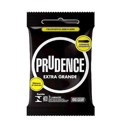 PRESERVATIVO EXTRA GRANDE COM 3 UNIDADES PRUDENCE