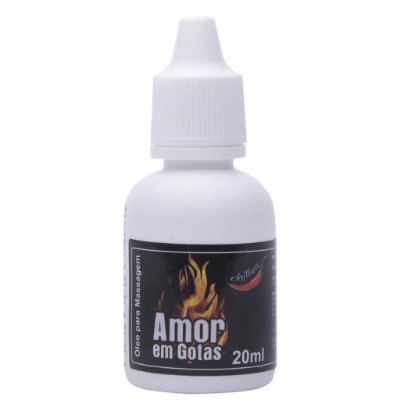 Amor em gotas óleo excitante hot 20ml Chillies