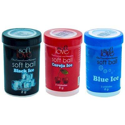 Soft ball bolinha ice 8g 02 unidades Soft Love