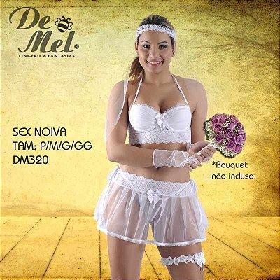 FANTASIA FEMININA DE MEL SEX NOIVA