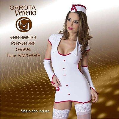 FANTASIA FEMININA GAROTA VENENO ENFERMEIRA PERSEFONE