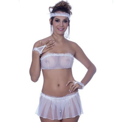 Kit fantasia noiva saia Sensual Love
