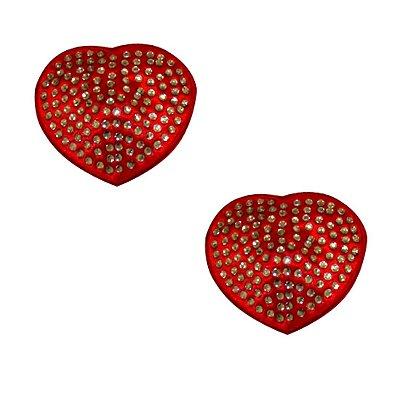 Nipple Cover Coração Com Strass Sapeka