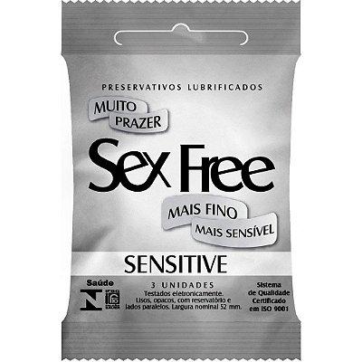 Preservativo Sensitive Com 3 Unidades SEX FREE