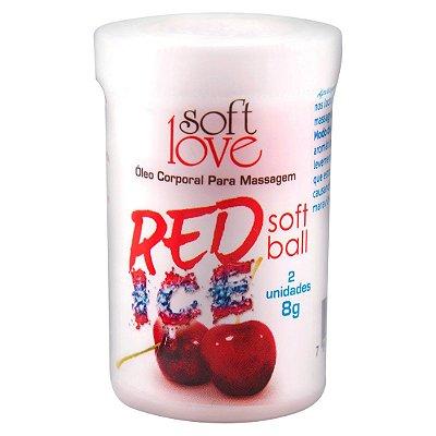 Soft Ball Bolinha Red Ice 8G 02 Unidades SOFT LOVE