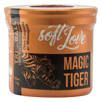 SOFT BALL TRIBALL MAGIC TIGER 12G 03 UNIDADES SOFT LOVE