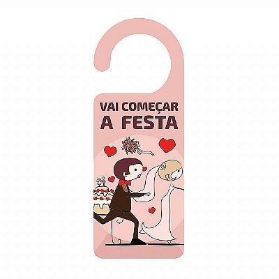 AVISO DE PORTA RECÉM CASADOS