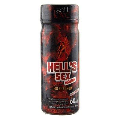 HELLS SEX WOMAN ENERGY DRINK 60ML SOFT LOVE