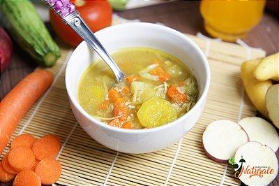 SC10 - Sopa de legumes em cubos e frango desfiado