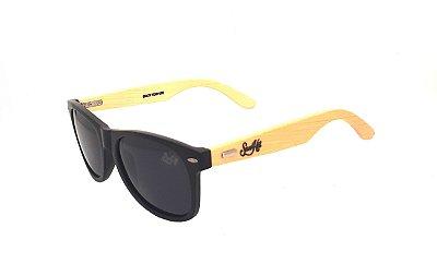 Óculos de Sol SunHot BM.007 Bamboo Black