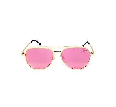 Óculos de Sol SunHot MT.023 Gold Pink