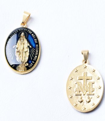 Medalha Milagrosa de N. Srª. das Graças - Resina + Escapulário