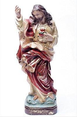 Imagem do Sagrado Coração de Jesus - 30cm - Barroco