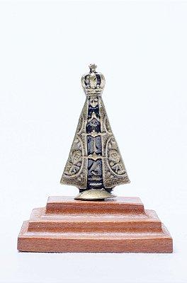 Imagem de N. Srª. Aparecida no Pedestal - 6cm - Metal + Medalha