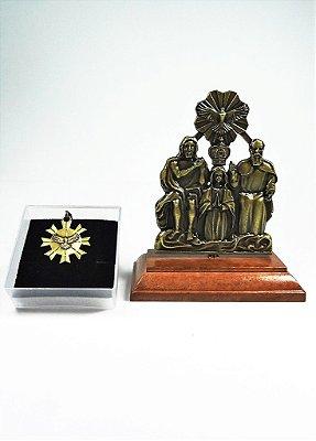Imagem Divino Pai Eterno - 8cm - Metal + Medalha