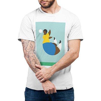 Cabeceio I Voe Como Uma Garota - Camiseta Basicona Unissex