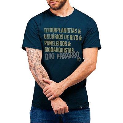 Terraplanistas & Usuários de Kits - Camiseta Basicona Unissex