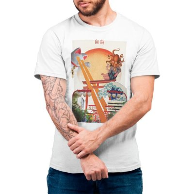 Liberdade Fields Forever - Camiseta Basicona Unissex
