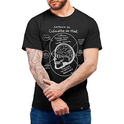 A Anatomia do Cidadão do Mal - Camiseta Basicona Unissex
