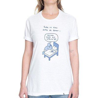 Vacina Nossa Que Esta no SUS - Camiseta Basicona Unissex\