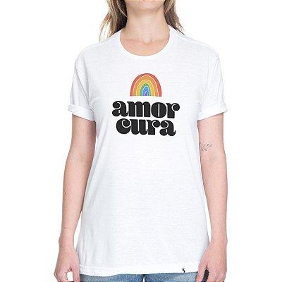 Amor Cura #pride - Camiseta Basicona Unissex