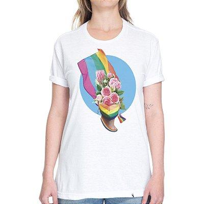 Bandeira LGBT #pride - Camiseta Basicona Unissex